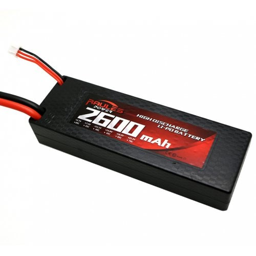 7.4V 2600mAh 2S 45C LiPo Battery Hard Shell