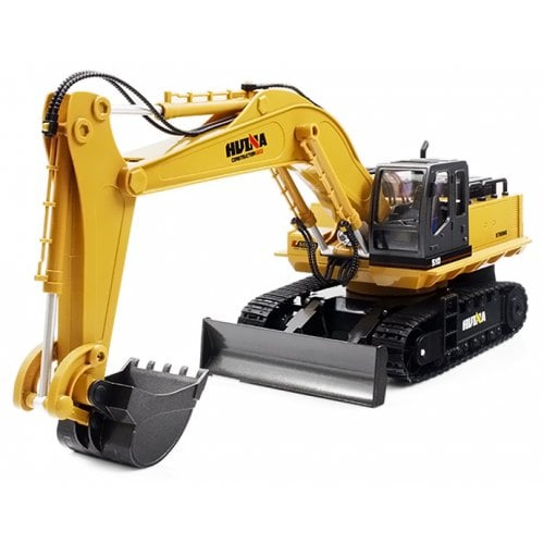HUINA JOUETS 1510 1:16 2.4GHz 11CH alliage RC excavatrice - RTR