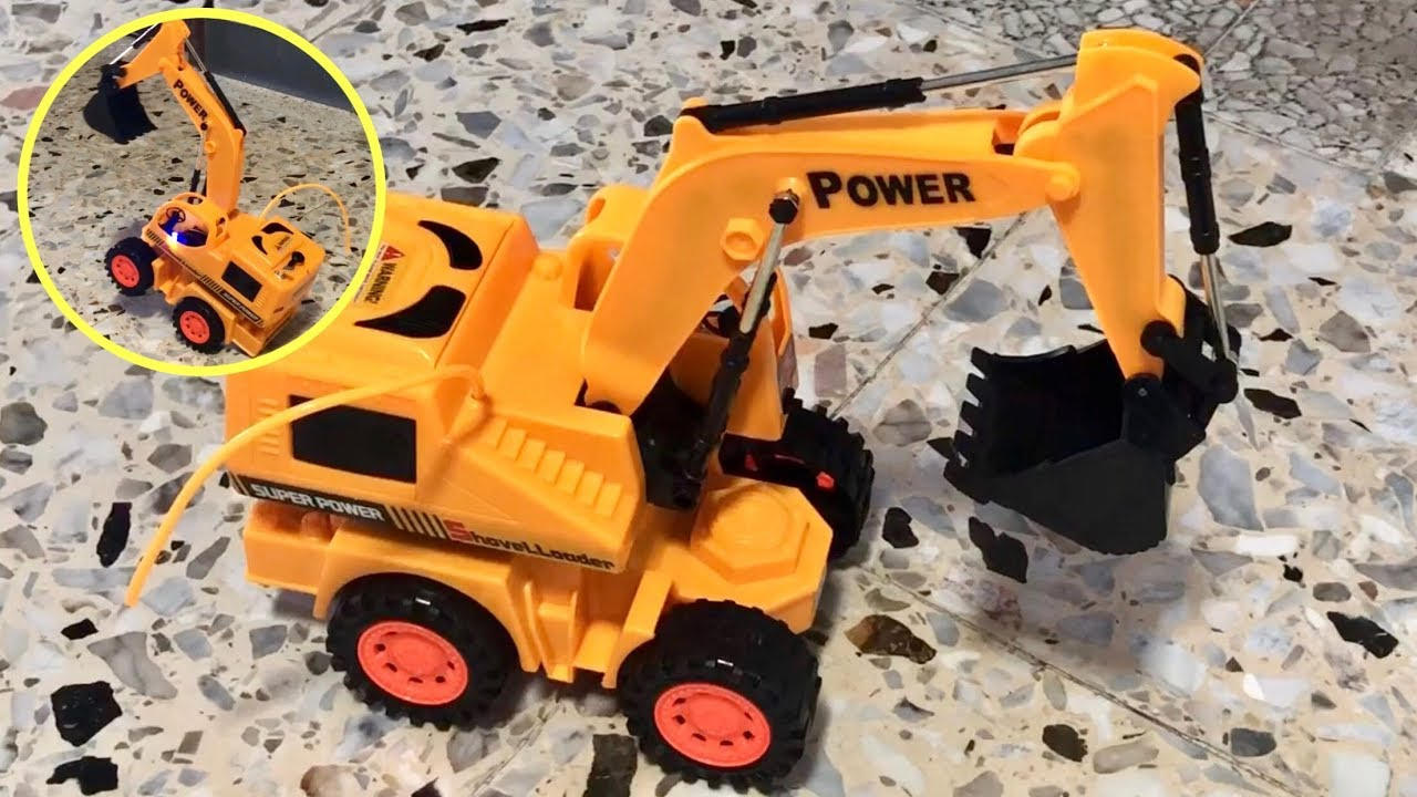 Fleshing LED Remote Control Excavator RC Car | Toy Review With Vintono