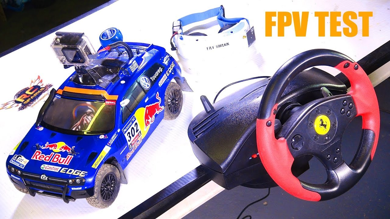 RC EVENTYR – RED BULL FPV VW RALLY CAR & GAMiNG WHEEL MOD! Carisma AWD, FAT Shark, Thrustmaster
