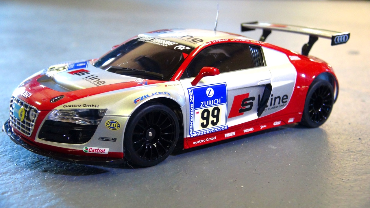 "I UNBOX my FiRST Kyosho Mini Z ""SPORTS 2"" AUDi R8 2WD автомобиль гонки! (LiVE)"