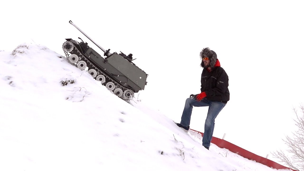ELEFANT TANK DESTROYER HiLL CLIMB in SNOW 1:6 scale – 240 lbs  All Metal Armortek  | RC ADVENTURES