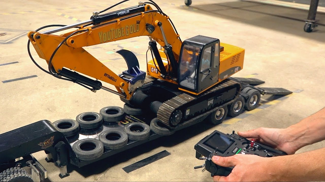 YouTube GOLD: Excavator UPGRADES & Side-loading a Trailer (RC4WD Earth Digger 1.5) | RC ADVENTURES