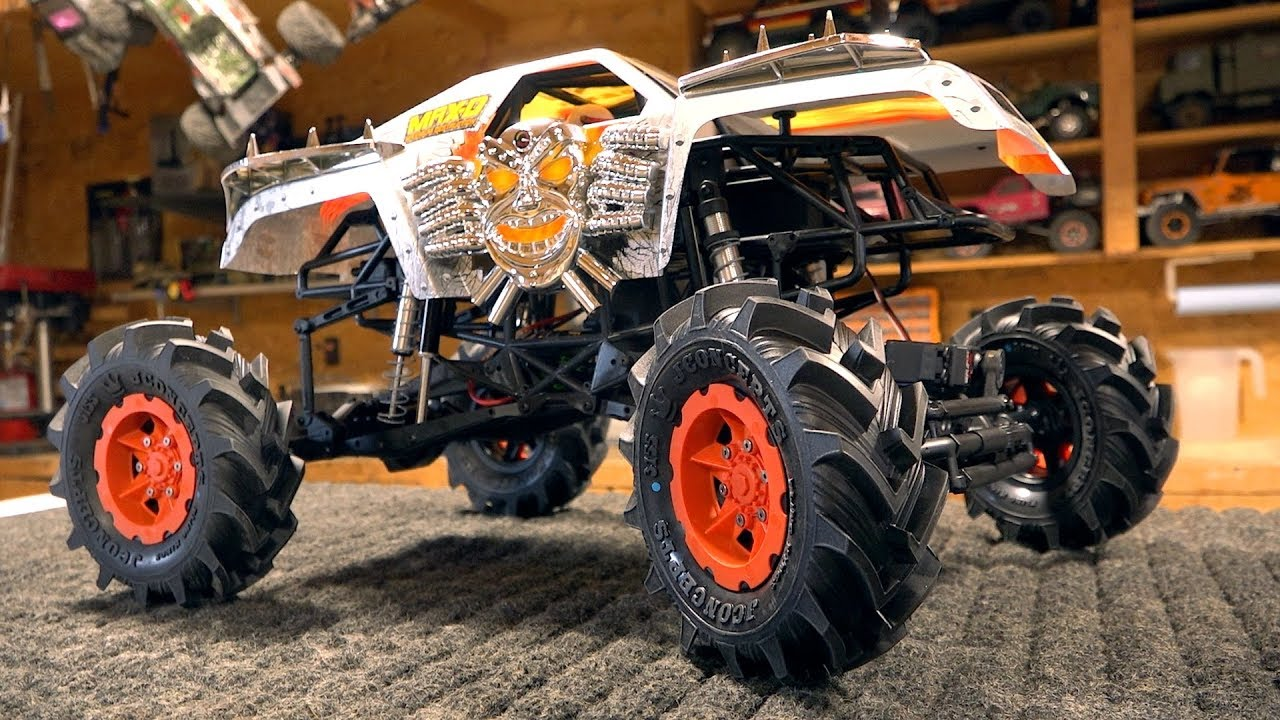 THESE TIRES KICK BUTT! MONSTER MUD 2.8 FLING KINGS – MAX D TRUCK BUILD: AXIAL SMT10 | RC ПРИКЛЮЧЕНИЯ