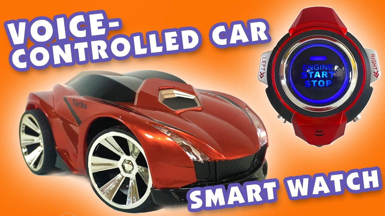 Voice Controlled RC Car with SmartWatch TomTop KFToys Unboxing Review