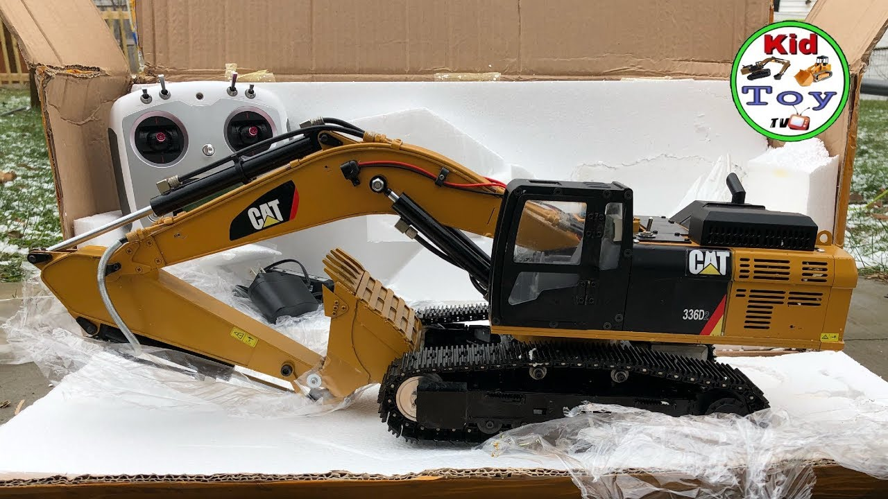 RC EXCAVATOR UNBOXING 336D HYDRAULIC || REVIEW AND TESTED FOR THE FIRST TIME GET DIRTY