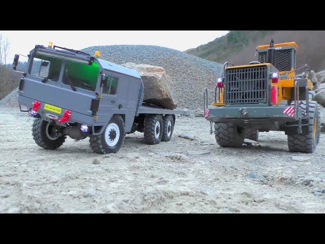 RC M.A.N KAT1 CRASH! NUEVOS RC TRUCKS 2019! HEAVY WORK AND TRAILER FAIL!