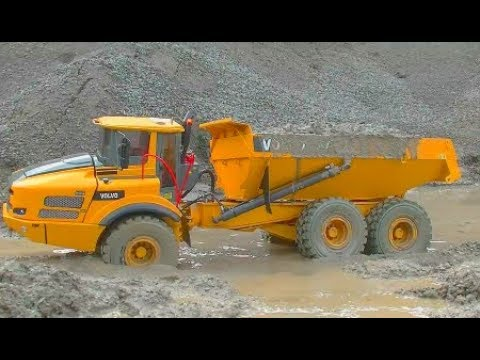 RC BEST OF! NAJBOLJE OD VOLVO A45G! RC VOLVO DUMP TRUCK IN THE MUD AND WATER! FANASTIC RC MODEL