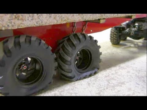 RC CRANE ACCIDENT! TO MUCH FOR THE LTM 1055 Γερανός! COOL RC ACTION AND HEAVY LOAD! NEW 50t TRAILER