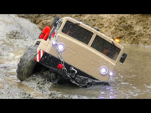 КРУПНЕЙШИХ RC ПРИКЛЮЧЕНИЕ 2019! HEAVY RAIN AND MUD FOR THE MAZ 537BC8 & THE MAN