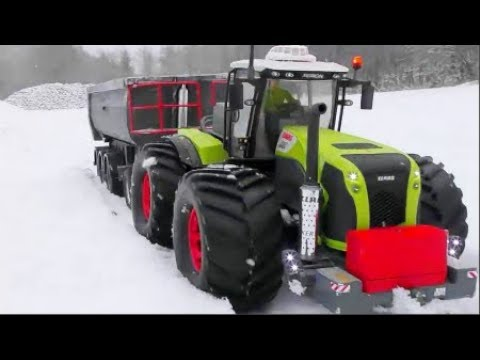 RC SNOW ADVENTURE! HEAVY RC MACHINES IN THE SNOW! COOL RC ACTION AT THE SNOW ROAD & 4WD VEHICLES