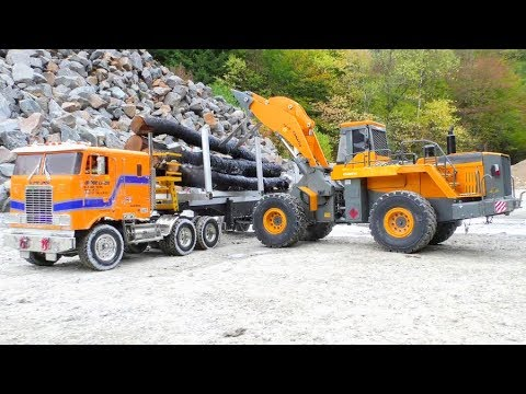 RC Trucks! RC Vehicles! RC Construction machines at work! Cool rc toys!