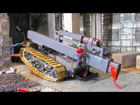 RC Vrachtwagen! RC DRILLING MACHINE! COOL NEW RC TOYS 2019! HEAVY VEHICLES