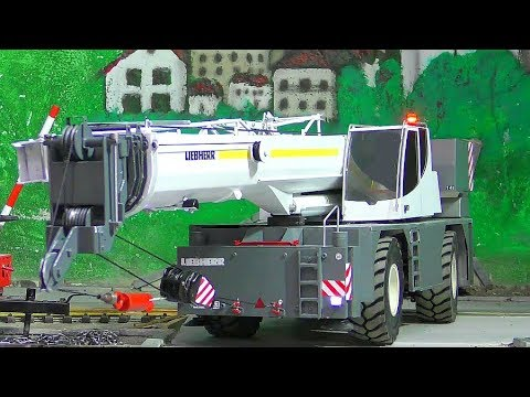 RC LIEBHERR LRT 1100-2.1! UNIQUE RC CRANE TRUCK! FANTASTIC RC MODEL!