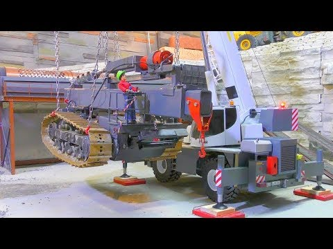 LIEBHERR LRT 1100-2.1! HEAVY 75t DRILL TRACTOR LIFT! FANTASTIC RC VEHICLES
