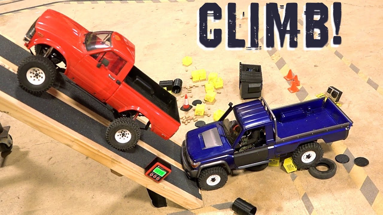 Battle of the Toy Yota's : HiLUX TF2 vs LC70 BRX01 Truck Extreme Climbing Angle Test | RC 冒险