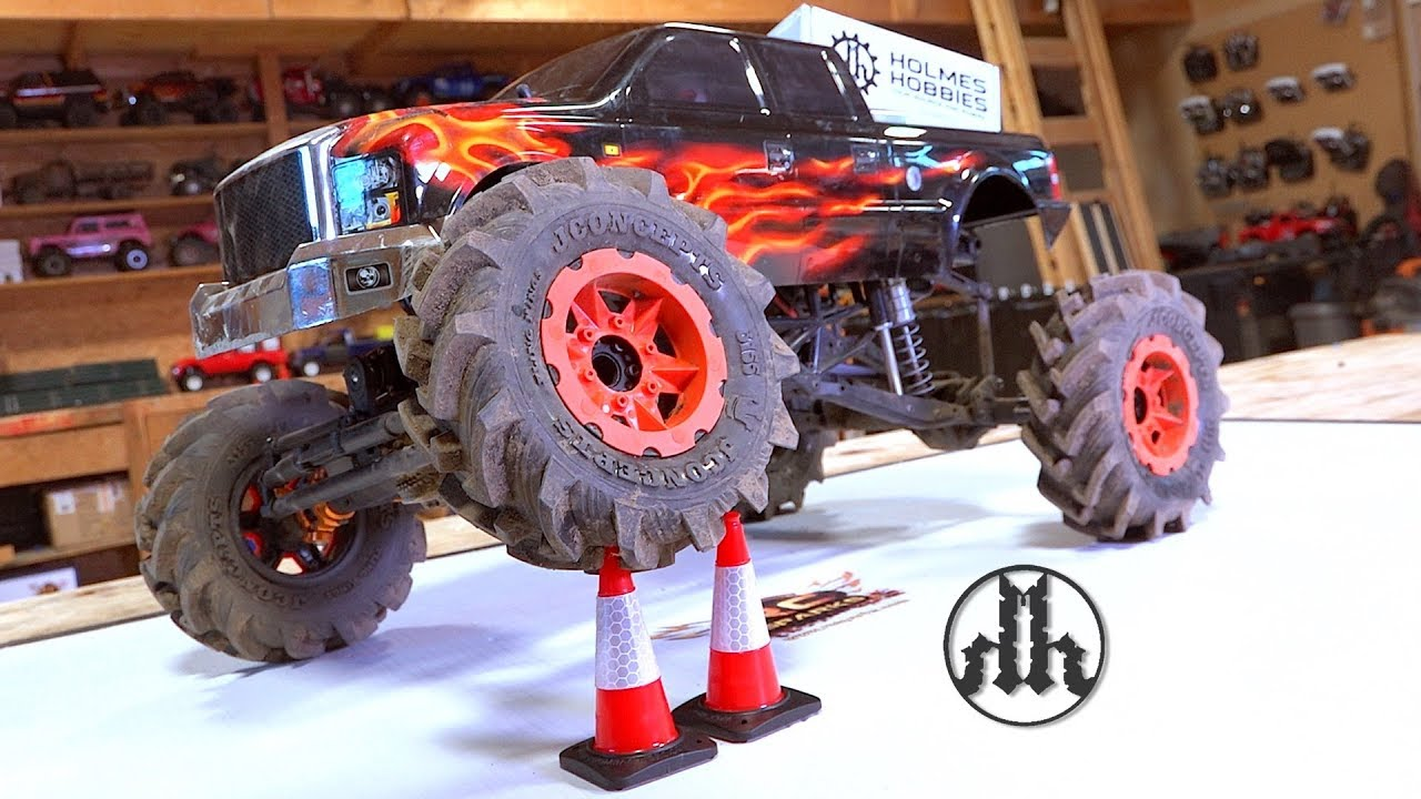 Mega Monster Mud Truck BUILD & Holmes Hobby 3500kv PULLER PRO BL Motor UPGRADE! | RC AVONTUREN