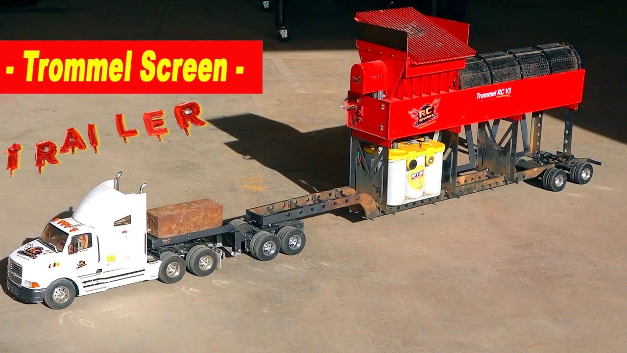 """WELDING """"LITTLE RED"""" – our NEW """"YouTube GOLD"""" Mobile STEEL Trommel Trailer 