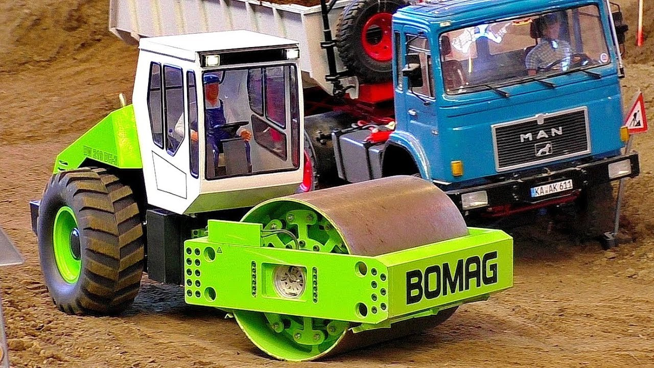 RC ROLLER BOMAG BW219 DH-3 WITH AMAZING FUNCTIONALITY  IN MOTION AT WORK