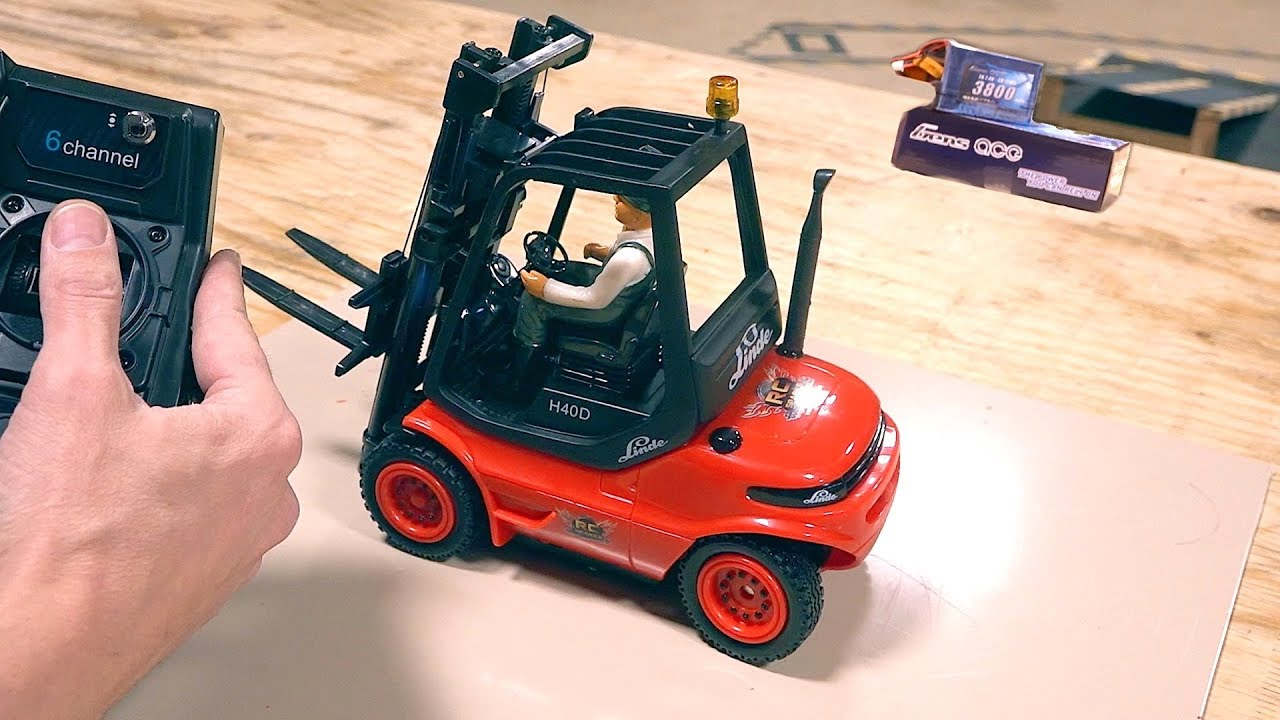 Modifying a 2019 1:14 scale Carson Forklift to fit a GensAce 7.4v Lipo – Linde H40D | AVENTURAS RC