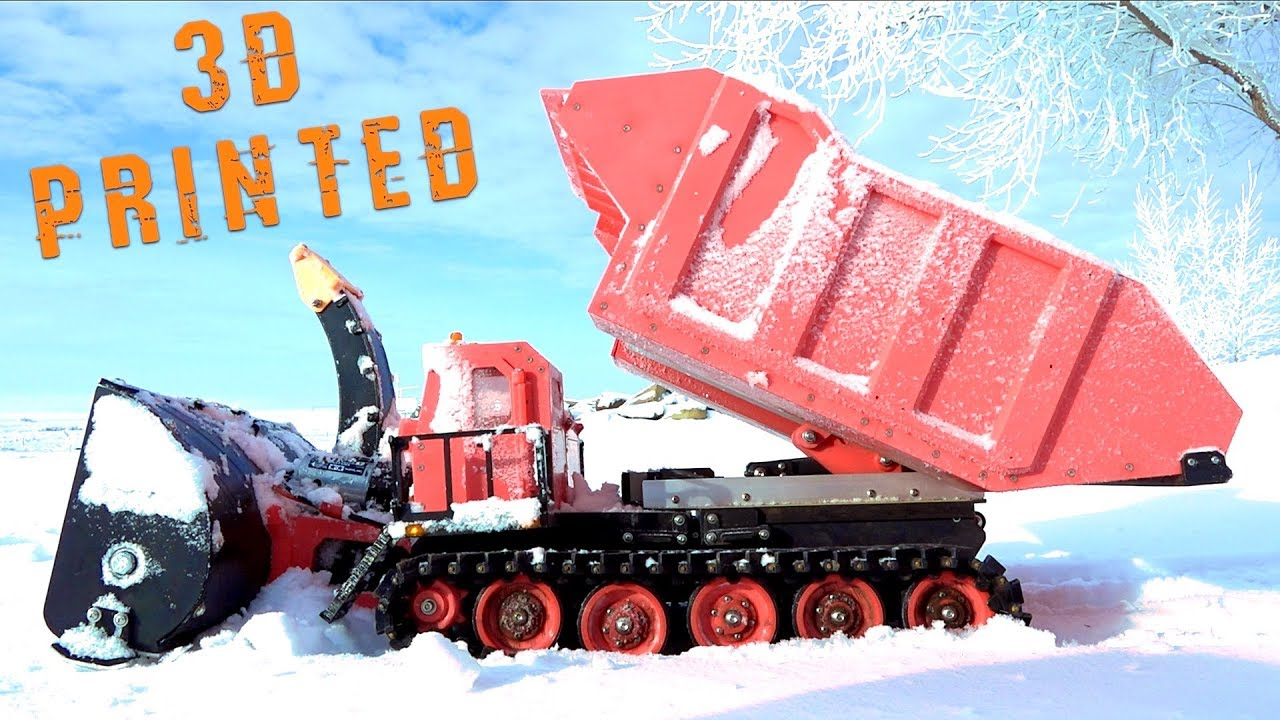 3D Printed Radio Controlled RED SNOW BLOWER & TRACKED MACHINE – Robots Doing Work | RC ΠΕΡΙΠΈΤΕΙΕς
