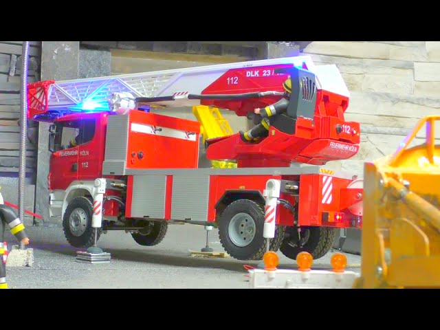 FIRE LADDER, FULL HYDRAULIC RC FIRE LADDER, HEAVY RC !rc live action
