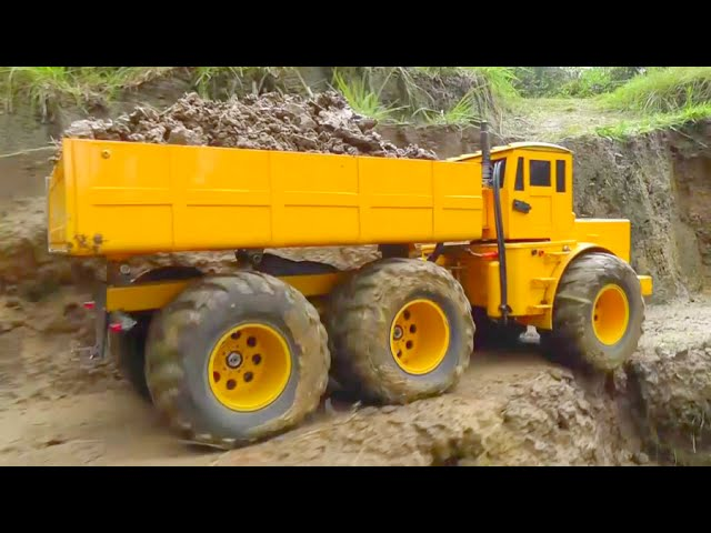 KIROVETS – RC KIROVETS K-700 AT WORK – GREAT ACCIDENT –  BIG AND STRONG RC MODELS !