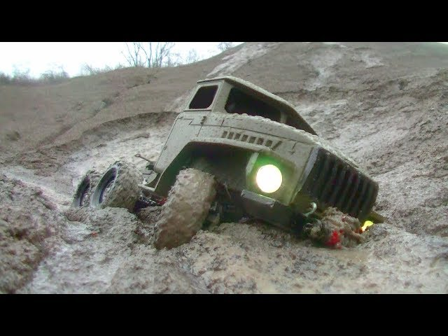 RC URAL 4320 IN MUD! INCREDIBLE RC OUTDOOR ACTION! COOL HANDMADE VEHICLES