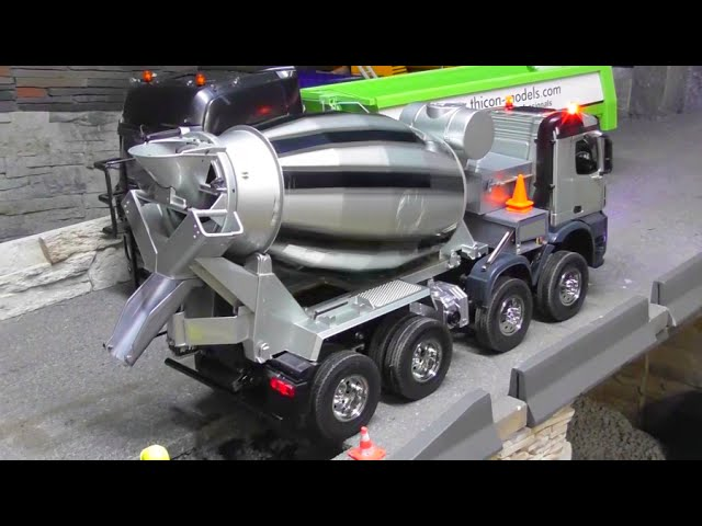 SITIO DE CONSTRUCCION – BEAUTIFUL RC CONCRETE MIXER – RC BETON MIXER !