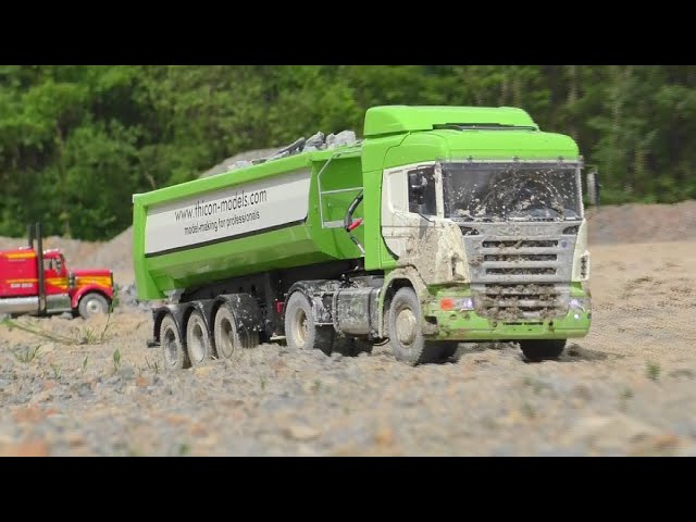 BOUWPLAATS |  THE AMAZING POWERFUL RC MACHINES |  RC SCANIA !