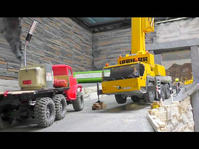 AWESOME MACHINES –  RC TRUCK ACTION!  NEW BRIDGE AND THE HIGHT VOLTAGE GENERATOR!