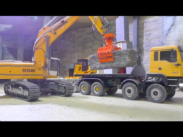 AWESOME RC TRANSPORT | A 45t BLOCK FROM THE MINE  | RC 8×8 M.A.N! RC LIVE ACTION FOR KIDS!