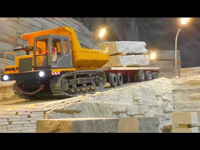 RC CONSTRUCTION | MEGA RC MACHINES AT WORK | TRANSPORT OF HEAVY BLOCKS | AMAZING RC TOYS1
