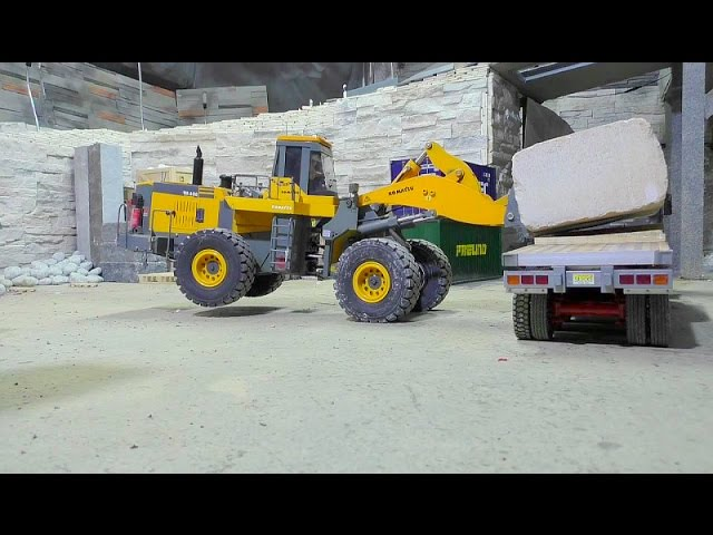 HEAVY RC CONSTRUCTION SITE | WORKING AT THE STONE COMPANY! 60t BLOCKS LOAD | RC LIVE ACTION FOR KIDS