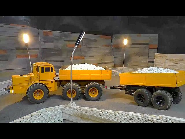 RC VOLVO L250G WORK! THE OLD WALL DESTROI! RC LIVE ACTION FOR KIDS