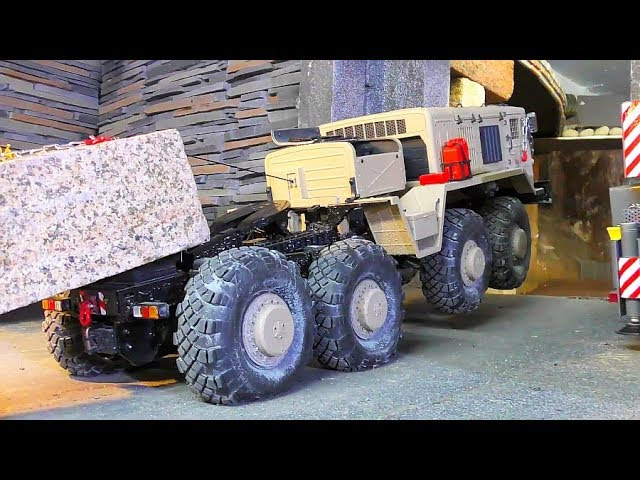 RC MAZ 537 WITH POWER WINCH! 20KG GRANITE BLOCK TRANSPORT! BC8 EXTREME