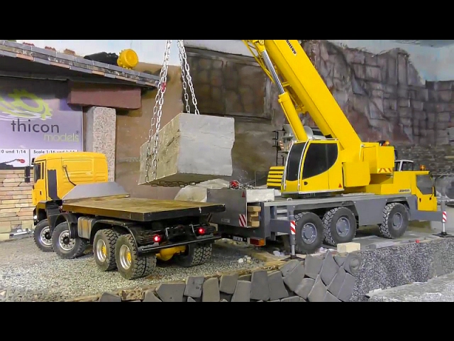 Heavy RC crane action 🔥The maximum load 55 t 🔥FANTASTIC Liebherr LTM 1055 crane🔥 RC LIVE ACTION