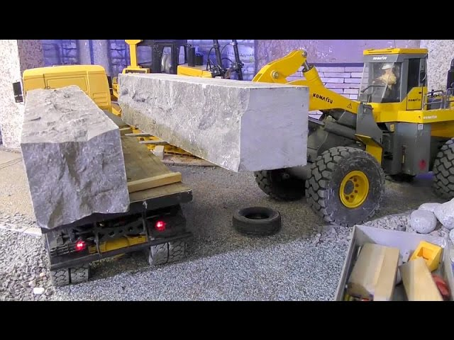 RC KOMATSU WA 600-6🔥60t  GRANITE LOAD🔥RC 8×8 MAN EXTREME🔥RC LIVE ACTION