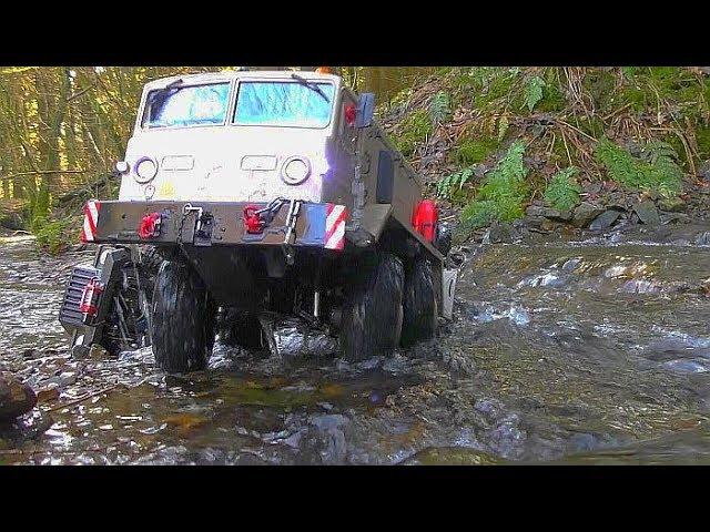 MAZ 537 RC! COOL RESCUE ACTION AT THE WILD RIVER! FANTASTIC RC VEHICLES 2019! COOL TRUCKS