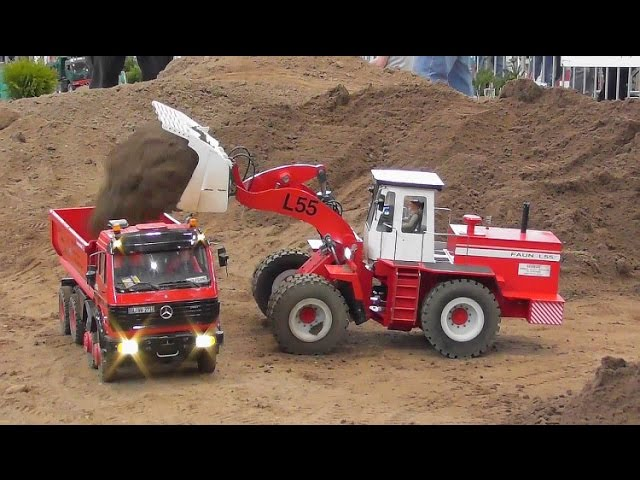 RC CONSTRUCTION MACHINES AT WORK🔥AMAZING RC MODELS🔥RC LIVE ACTION 2017