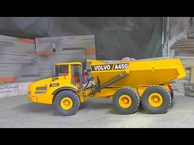 VOLVO A45G FIRST WORK! VOLVO EQUIPMENT AT WORK! RC VOLVO A45G IN ACTION! RC LIVE ACTION MACHINES!