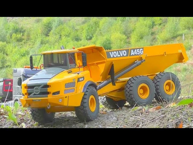 RC VOLVO A45G IN ACTION! STUNNING SELF MADE SCALE 1/14 MODELS! HEAVY RC MACHINES WORK SO HARD!