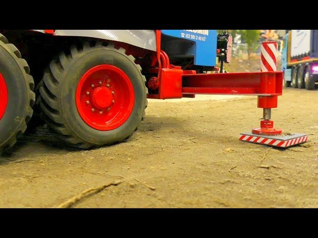 COOL RC CRANE TRUCK IN ACTION! AMAZING SELF MADE RC VEHICLES!