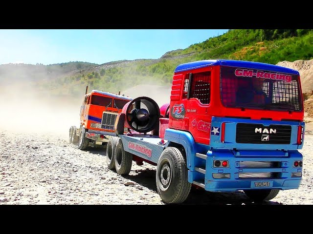 RC Race Truck in Action! Cool self made Race Truck! Impellar Turbine Truck!