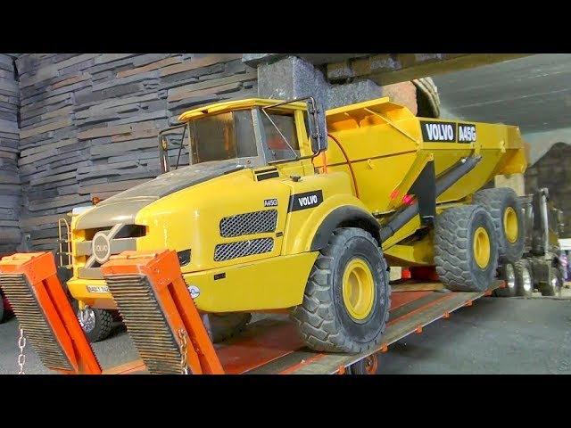 RC VOLVO A45G! Stunning Trucks and Vehicles! Strong RC Machines in Action!