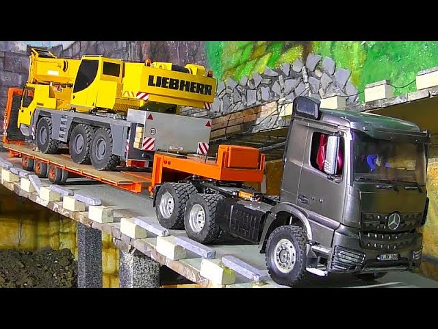 RC Crane Transport! Loses hydrulic oil! Rc Trucks! RC Machines! RC Action! RC