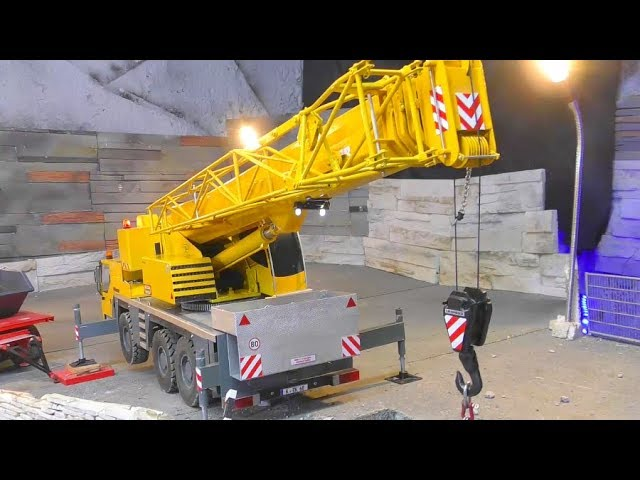 INCREDIBLE RC Trucks! RC Crane Truck LTM! RC Komatsu on the move! Strong RcVehicles in Motion!