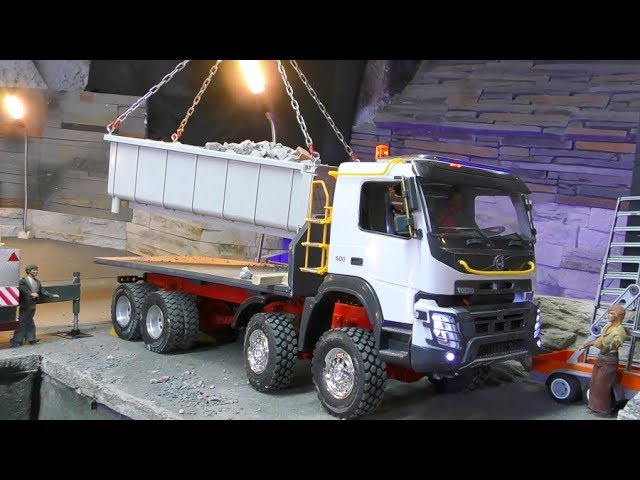 RC TRUCKS in Action! Cool Liebherr Crane! RC Volvo FMX 8×8 at Work