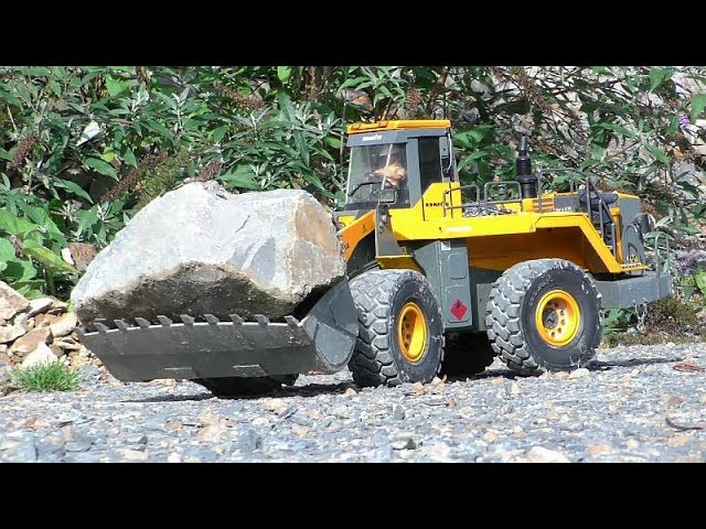 Stunning RC wheel loader! Komatsu WA 600-6 !RC toys for boys! Cool rc