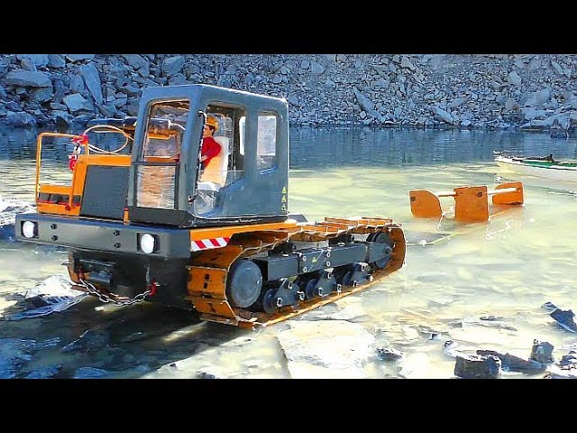 RC ship rescue!  Rc vehicles ! Cool trucks! heavy machines! Cool RC action!